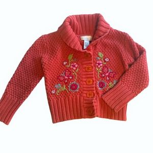 Maggie & Zoe Embroidered Cardigan Girls Size M